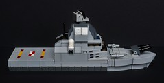 Patrol Vessel - Starboard (The Legonator) Tags: lego ship boat vessel military navy marines warship micro microscale naval mini fleet