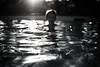 Summer memory (PaxaMik) Tags: summertime summer swimmingpool swimmer nager nageur silhouette piscine black blackandwhitephotos eau water memory souvenir été soleil sunset