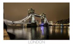 TOWER BRIDGE AT NIGHT (champollion-10) Tags: bridge london longexposure night river england cityscape colors