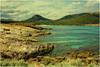 Cala Agulla. (Heinze Detlef) Tags: mallorca calaratjada calaagulla berge sand felsen strand urlaub urlauber landschaft himmel wolken wasser bäume