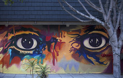 Wall Eyes (justtakenpictures(with a new macro)) Tags: challengeyouwinner 15challengeswinner face mural wall cy2