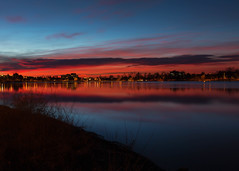 Sunrise, Sloan's Lake (mclcbooks) Tags: sunrise dawn daybreak morning light clouds bluehour longexposure le lake reflections sloanslake denver colorado landscape