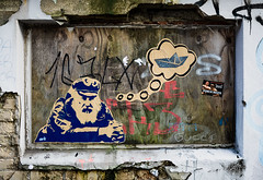 HH-Wheatpaste 3555 (cmdpirx) Tags: hamburg germany reclaim your city urban street art streetart artist kuenstler graffiti aerosol spray can paint piece painting drawing colour color farbe spraydose dose marker stift kreide chalk stencil schablone wall wand nikon d7100 paper pappe paste up pastup pastie wheatepaste wheatpaste pasted glue kleister kleber cement cutout