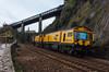 Rail Grinder (Teignstu) Tags: teignmouth devon seawall railway networkrail railgrinder skewbridge martinelwood c2103