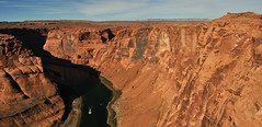 Glen Canyon - Colorado River Panorama (Drriss & Marrionn) Tags: travel arizona usa glencanyon roadtrip desert red canyon horseshoebendobservationarea horsehoebend river landscape landscapes overlook mountain coloradoriver rock panorama mountains