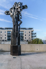 CHRIST THE KING STATUE BY ANDREW O'CONNOR [DUN LAOGHAIRE]-136510 (infomatique) Tags: christthekingstatue andrewo'connor dunlaoghaire publicart sculpture williammurphy infomatique fotonique february 2018 sony a7riii religion christ statue desolation consolation triumph