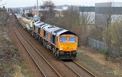 GBRF 66778 & 66773 - Mansfield (the mother '66' 66001) Tags: gbrf class66 mansfield mansfieldwoodhouse robinhoodline railways rail nottinghamshire doncaster toton 6m73