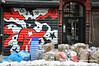 Garbage Man (Trish Mayo) Tags: gates paintedgates mural art garbage lowereastside