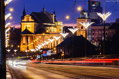 Way to St. Anne's Church (lukasz.soszynski) Tags: illumination color long exposure warsaw blue hour sky compressed landscape lens downtown night photography building warszawa kościół św anny w warszawie tight architecture downtawn buildings outdoor canon 600d polska light longexposure colorful multicolor bluehour multi colored cityscape evening st annes church 20180113 compression dusk poland