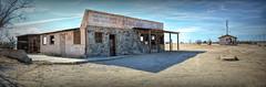 Dilapidated Auto Body Shop    (Explore 1/21/18) (joe Lach) Tags: dilapidated rundown autobodyshop autorepairs mojavedesert mohavedesert antelopevalley hivista panoramic panorama joelach