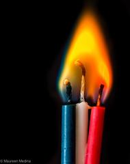 Playing with Fire (Maureen Medina) Tags: maureenmedina artizenimages fire flame candles wicks closeup macromondays macro mondays