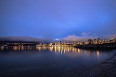 January 30, 2018. (Amanda Catching) Tags: today longexposure light city skyline vancouver ocean