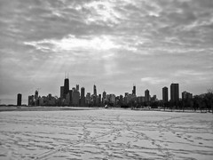 The City on Ice (llewelynjarvis) Tags: olympus em1markii lumix g 20f17 ii reverent peace positivevibes contrast skyline city chicago greatlakes water winter skyscraper art frozen time aperture pic picture photo photography mood followme camera digital liveyourlife artphotography photographyislifee photographylovers photooftheday yes goodday freetime focus success motivation motivated iso shutterspeed snow morning sky clouds sunlight noiretblanc flickr mono hiver outside buildings