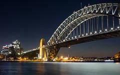 Sydney Harbour Bridge (StefanKleynhans) Tags: nikon d7100 sydney harbour bridge night light nsw water long exposure city