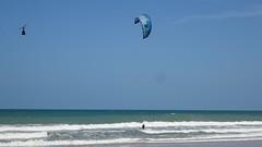 I will fly with you (Jose Haroldo Sena) Tags: praia beach ceará brasil brazil ceu sky robison kyte vento wind cumbuco vilagalécumbuco r44 kite kitesurfing kitesurf pipa
