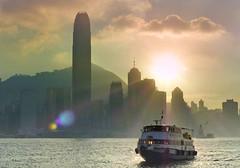 Evening over Hong Kong. (Bernard Spragg) Tags: hongkong starferry lumix evening skyline asia