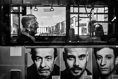 Faces (mr.reverend) Tags: faces poster bus mobility waiting elderly street streetphoto streetphotography streetlife urban urbanlife candid city citylife rome italy blackandwhite monochrome