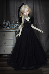 Black Calla (AyuAna) Tags: bjd ball jointed doll dollfie ayuana design handmade ooak clothing clothes dress set outfit fashion couture sewing sewingfordolls crafting slim msd mnf minifee fairyland size dim dollinmind benetia hybrid dolllegend body