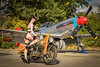 Tall in the Saddle (Nimbus20) Tags: tle model mustang airplane aeroplane warbird essex england pinup bike motorbike ww2