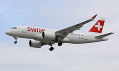Swiss Bombardier CSeries CS100 (AMSfreak17) Tags: amsfreak17 danny de soet canon 70d lhr egll london heathrow airport luchthaven vliegtuigen vliegtuig aircraft airplane jet jetphotos planespotting luchtvaart vertrek aankomst departure arrival spotter planes world of airplanes united kingdom great britain europe landing approach runway 27r 09l swiss bombardier cseries cs100