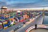 Casablanca Port (Rob McC) Tags: morocco crane dock observing deck goldenhour ship boats containers harbour port casablanca