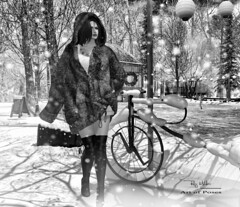 """Winter is a season of recovery and preparation!"" (Roy Mildor - I am how I am !) Tags: roymildor rmartofposes artofposes posing hud profile sl secondlife photography animation bento slink vista foto woman snow white cold winter girl"