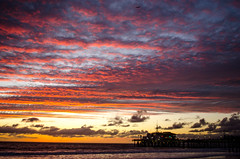 Santa Monica (rmstark3) Tags: santa monica pier ocean california beach sunset clouds water sky landscape seascape