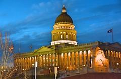 State Capitol :Salt lake City (shishirmishra1) Tags: capitol building utah salt lake city blue light outdoor no person usa