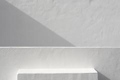 Shadowplay on white walls (Jan van der Wolf) Tags: map150423ve monochrome monochroom wall muur shadow shadowplay schaduw geometric geometry geometrisch schaduwspel white wit lanzarote minimalism minimal