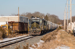 W&W CM-10 @ Cedarville, NJ (Dan A. Davis) Tags: winchesterandwestern ww shortlinerailroad gp9 cm10 freighttrain railroad locomotive train nj newjersey fairton cedarville dividingcreek