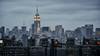New York City Skyline (rjdibella) Tags: brooklyn night usa empirestatebuilding bw manhattan bridges attributes newyork winter 2011 skyline newyorkcity brooklynbridge blackwhite nyc unitedstates us