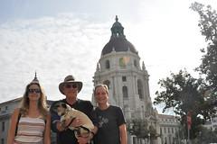city hall (greenelent) Tags: california pasadena people dog pug pets streets ca 365 photoaday
