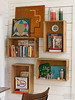 Crate Shelves (Heath & the B.L.T. boys) Tags: repurpose crate box shelves office wood rustic thermos vintage books