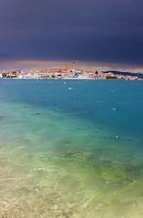 Multi-coloured Murter (snowyturner) Tags: croatia murter betina adriatic colours sea stones weather storm church