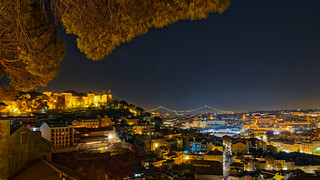 Lisbon - Castelo de San Jorge and Ponte 25 de Abril