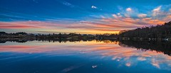 Vormedalsvatnet, Norway (Vest der ute) Tags: xt2 norway rogaland karmøy vormedal water waterscape landscape lake sunset reflections trees boats serene bluesky clouds fav25 fav200 boat