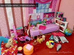 chaoseverywhere (LaSonrisaMagica) Tags: barbiehouse chaos barbieroom puppy lasonrisamagica