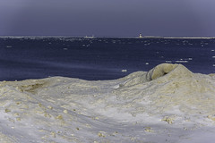 Ice Mounds (Tom Gill.) Tags: lake lakemichigan greatlakes indiana ice winter lighthouse michigancity shelfice