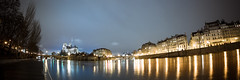 Paris (Zeeyolq Photography) Tags: seine night notredame paris panorama