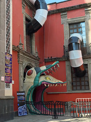 tim burton's exhibit entrance (ikarusmedia) Tags: tim burton entrance exhibit museum franz mayer monster expo exposition beetlejuice sandworm fantasy movie historical center mexico city downtown character