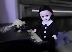 Lurch would like the Pianos... (pianocats16) Tags: wednesday addams family charles doll custom piano toy antique dress living dead repaint ooak