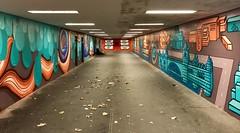 Fußgängertunnel Leipziger Straße (Berliner1963) Tags: stphotographia pedestriantunnel türkis red rot green grün graffiti tunnel fusgängertunnel leipzigerstrase berlinmitte berlin germany deutschland
