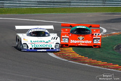 1988 Spice SE88, Porsche 962 Jägermeister (belgian.motorsport) Tags: 1988 spice se88 porsche 962 962c jägermeister spa classic francorchampc 2012 groupc racing groupcracing