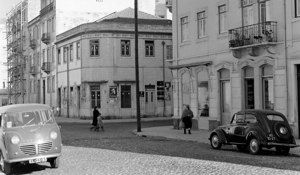 Rua Fancisco Sanches x Rua José Falcão, Lisboa. Horácio de Novais, c. 1960