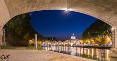 rome st peters (chrisvanes) Tags: thebluehour bluehour rome saintpeters basilicasdianpietro vaticaan pope paus tiber ponteumberto