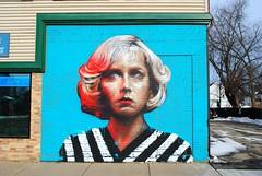 Kenosha, Wisconsin Mural (Cragin Spring) Tags: midwest unitedstates usa unitedstatesofamerica wisconsin wi kenosha kenoshawi kenoshawisconsin mural face portrait woman art artwork