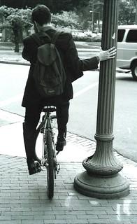 Stress! Washington DC, Scott Circle. Spring 2000.