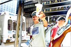 Cheers! (Steve Lundqvist) Tags: new york usa states united america manhattan stati uniti travel trip viaggio model urban city urbanscape portrait ny nyc persone ritratto ambient light fashion moda mood attractive beauty boy ragazzo fujifilm x100s streetphotography sportwear streetwear hilfiger kid town drink cheers prosit cin