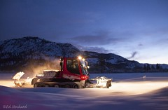 Cold Mornings (Ed.Stockard) Tags: pb pistenbully pb100 snow winter trails xc ski crosscountryski nordic methow methowvalley wa washington groomer grooming corduroy