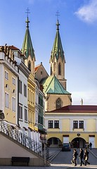 On a stroll (tomas.jezek) Tags: kromeriz czechia square townsquare church saintmaurice architecture city colors stairs history historical cityscape geometry d7100 nikon street